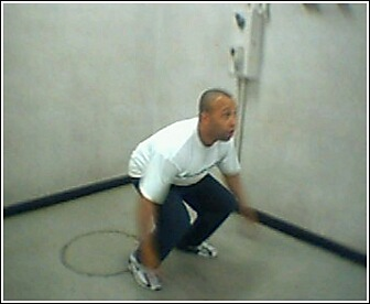 Personal Training Client exercising in a fitness center in Chicago